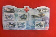 2012 SAVE SOLOMAN ISLANDS DOLPHINS LARGE MINI SHEET MUH 4 STAMPS