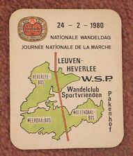 1980 Leuven, Belgium, Sports Walking Club Stella Artois beer mat coaster