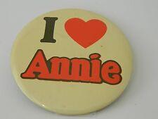 Vintage I Heart Annie Pinbacked Button 3