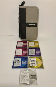 Lot Of 7 MiniDisc, 6 Maxell and 1 Memorex With Case Logic 12 MiniDisc Carry Case