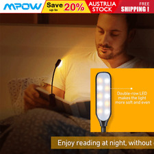 More details for litom 10 led reading light usb rechargeable light clip on bed book reading lamp