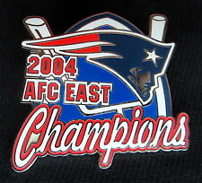 NEW ENGLAND PATRIOTS 2004 AFC East Division Champions LAPEL PIN Willabee & Ward