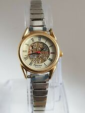 Beautiful  Equinox Ladies Skeleton Dial Quartz Watch.