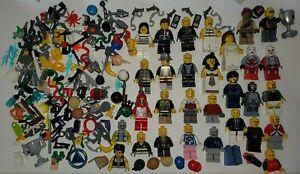 Lego Minifigures Lot Set Figures Police Prisoner Star Wars Weapons Accessories