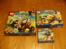 Lego Chima 3 Sets! 70000, 70002 & 70004  600+ Pieces! NEW & Sealed