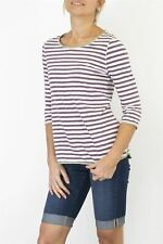 Womens White Stuff T-Shirt Striped Carly 3/4 Sleeve Cotton Casual Top 7 COLOURS