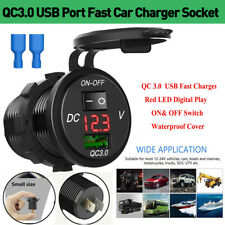 Camper Motorhome 12V//24V Car Charger for RV Wall Mount USB Charging Station with Blue Indicator Light and Cap Maichis 12V RV USB Charger Boat and More Quick Charger 3.0 18W Dual USB Outlet