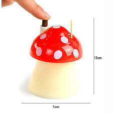 Durable Novelty Mushroom Automatically Toothpick Box Holder Home Decor Popular