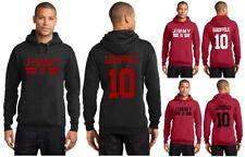 New Jimmy Garoppolo 10 San Francisco 49ers Hoodie Jersey Hooded Sweatshirt