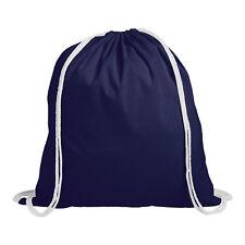 1 Cotton Childrens Drawstring Rucksack - Gym Swim Sports PE Book Bag