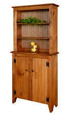 Amish ~ Rustic Pine ~ Custom Finished Jelly Cupboard w/Hutch Primitive Farmhouse