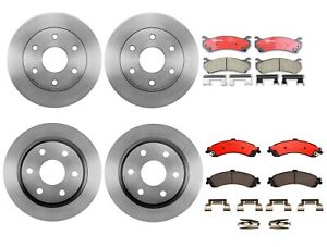 Brembo Front and Rear Brake Kit Disc Rotors Ceramic Pads For Cadillac Chevy GMC