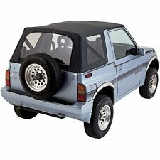 Suzuki Sidekick Geo Tracker Vitara 1986-1994 Replacement Soft Top Black (Clear)
