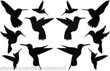 STICKERS WALL DECAL HUMMING BIRDS SET OF 12 ART SILLHOUETTE BABY BEDROOM NURSERY