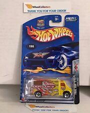 Ambulance #196 * Final Run * 2003 Hot Wheels * D27
