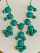Teal Turquoise Bubble Statement Necklace- Women's Fashion Jewelry