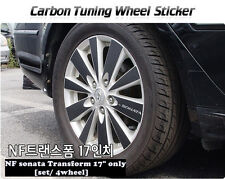 "Carbon Tuning Wheel Mask Sticker For  Hyundai NF sonata Transform 17"" [2007~09]"