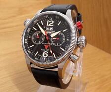 Para Hombre Negro XL 316L S/Acero Reloj Automático Ingersoll Bison No.70 IN3225BK