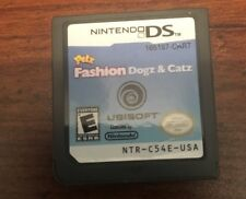 Nintendo DS  Petz Fashion Dogz & Catz  E Game  No Case Or Manual Game Only Used