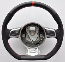 AUDI S Line ALCANTARA A3_A4_A5_A6_A8_TT RS_Q5_Q7_R8 steering wheel Flat Bottom