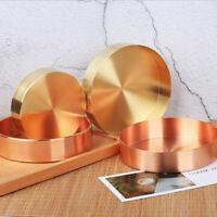 Dekoteller Dekotablett Teller Tablett Dekoration Metall Gold Bronze Shabby Chic