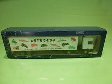 LION CAR DAF 95 400 ATI TRUCK + TRAILER - AUTODROP WHITE 1:50 - EXCELLENT