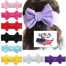 Lot of 10 PCS Baby Toddler Girls Cotton Bow Headbands Turban Headwraps Big Bows