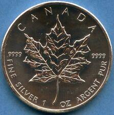 2011 Canada 1 Oz. 5 Dollar Maple Leaf Coin (31.1035 Grams .9999 Silver)From Roll
