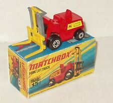 Matchbox Lesney #15 Fork Lift Superfast/Box