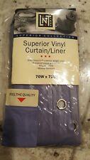 "Purple Denim Shower Curtain Liner 70"" X 72""  - HOME COLLECTION Plastic"