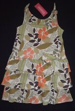 NWT Girls Gymboree Summer Safari Dress Sz Size 6 Orange Green Flower Floral