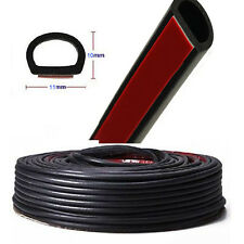 4M D-Shape Car Truck Door Rubber Hollow Seal Strip Moulding Trim Weatherstrip