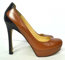 ELEGANT Ivanka Trump Women's Shoes Black Brown Genuine Leather Size 8.5 M