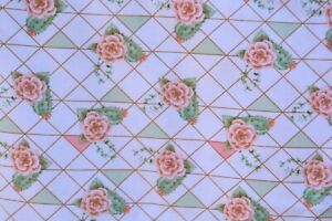 """2 yds Magic Moon Cotton Flannel fabric 42"""" wide FLORAL CACTUS ROSES"""