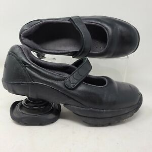 Z Coil Mary Jane Size 8 Black Leather Womens Spring Heel Comfort Shoe