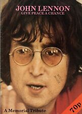 John Lennon Give Peace A Chance Memorial Tribute 1980