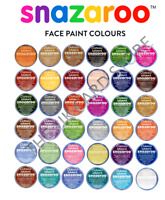 18ml SNAZAROO FACE PAINTS Stage Make-Up 36 COLOURS Classic Theatre Fancy Dress