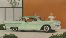 OLDSMOBILE 1950'S SUPER 88 HOLIDAY SEDAN DEALER ADVERTISING POSTCARD