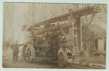 RARE RPPC - Unusual Steam Engine Well Drilling? Machine Tractor 1910