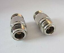 1x N type female to female jack RF adapter connector coupler straight type