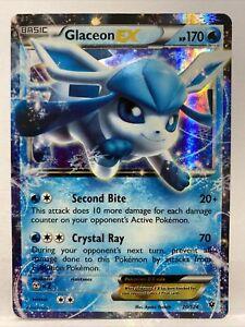 Glaceon EX 20/124 - Ultra Rare Holo - XY Fates Collide Pokemon Card MINT