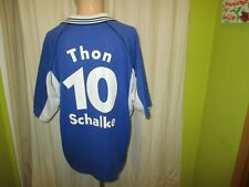 "FC Schalke 04 Original Adidas Heim Trikot 1998/99 ""VELTINS"" + Nr.10 Thon Gr.XL"