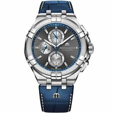 Maurice Lacroix Aikon Quartz Anthracite Dial Blue Mens Watch AI1018-SS001-333-1