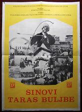 1963 Original Movie Poster Taras Bulba Ferdinando Baldi Gogol Russia Italian