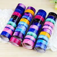 10Pcs Design 1.5cm DIY paper Sticky Adhesive Sticker Decorative Washi Tape JT