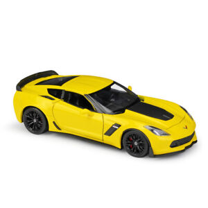 1:24 2017 Chevrolet Corvette Z06 Model Car Diecast Toy Vehicle Collection Yellow