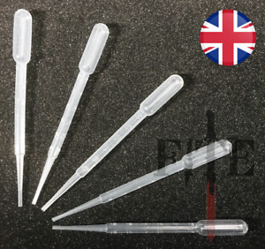 "plastic pipettes, 6"" long 3ml dropper 7.5ml capacity pippette pen 1 5 10 or 20"