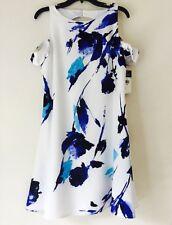 Lauren Ralph Lauren Floral Cold-Shoulder Dress. Size 10. $155.00.