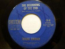 DIANE EMOND 45 Beginning Of End / Steve Is the One CRC pop ORIG. press  e2221