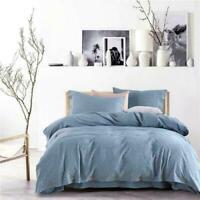Washed cotton&Linen bedding set 4pcs duvet cover sheet pillowcases Bed Set King